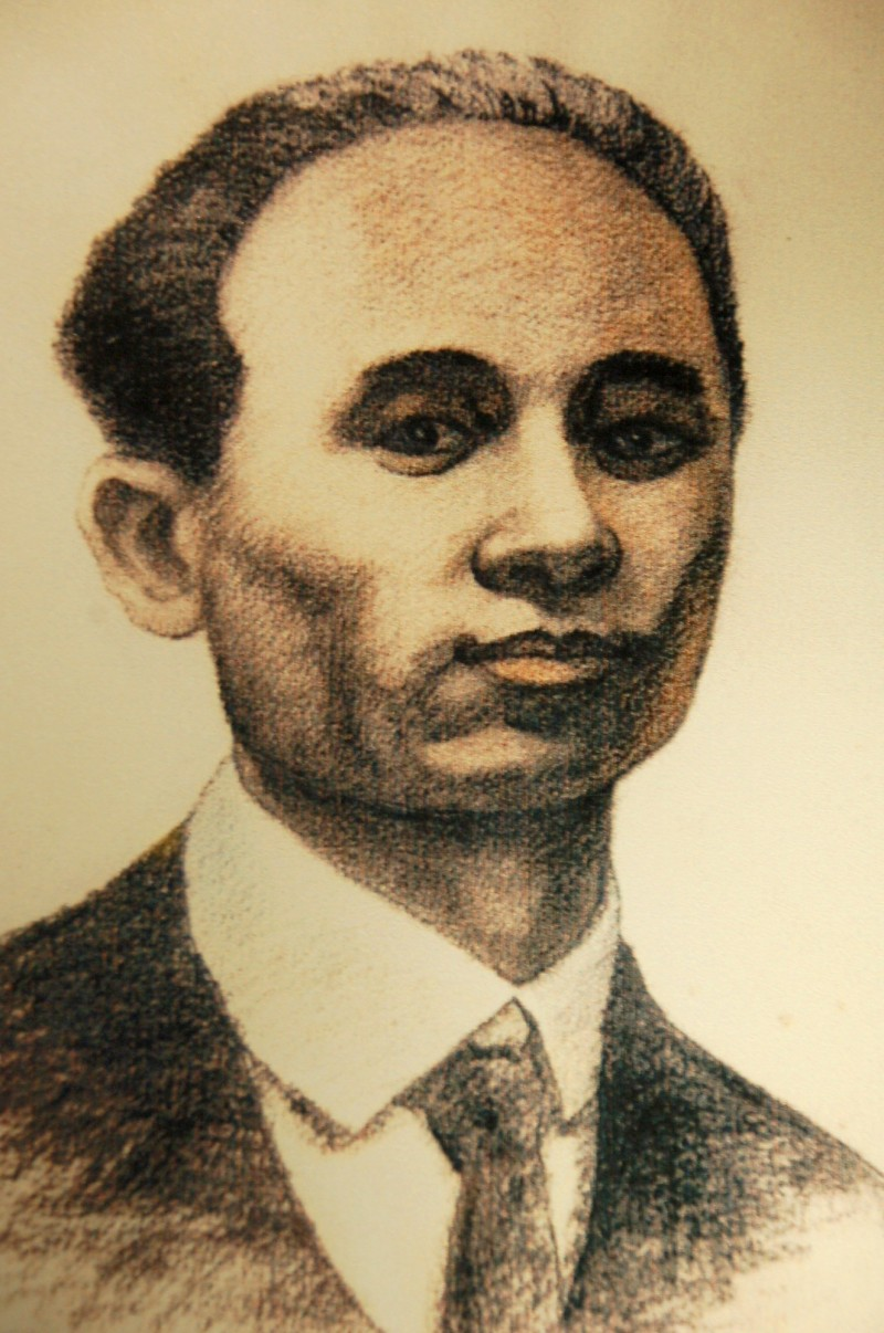 A sketch of sculptor Huang Tu-shui. Photo courtesy of Taiwan Historica