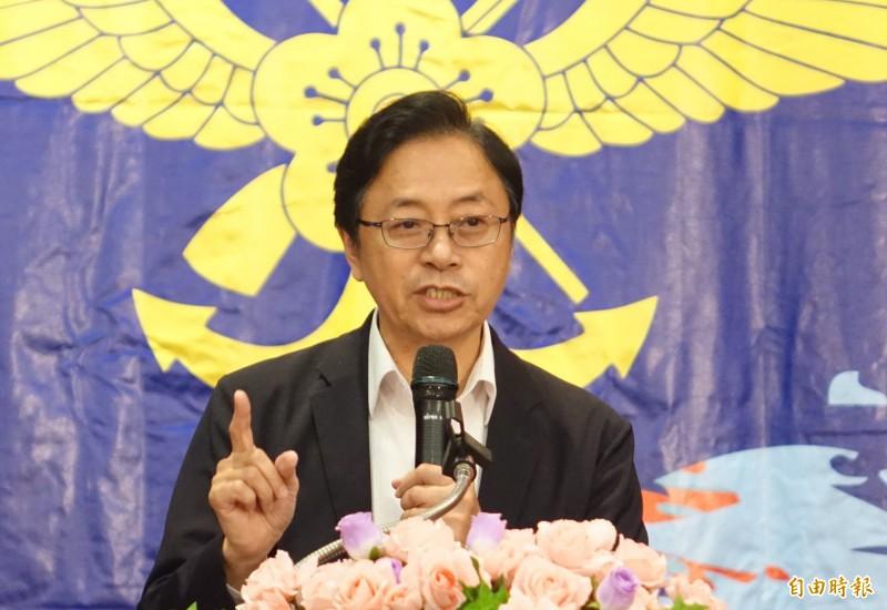 國民黨副總統候選人張善政出席復興崗校友團結誓師大會。(記者王藝菘攝)
