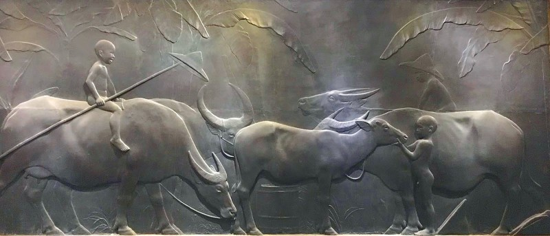 Huang Tu-shui's best known work, Water Buffaloes, still hangs on the walls of Zhongshan Hall. Photo courtesy of Wikimedia Commons
