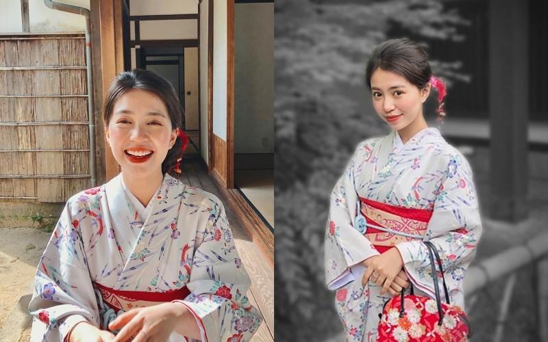 Mẫn Tiên靠著力拚學業,拿到獎學金留日,而從她日常生活照也可以看出她的日系打扮,Mẫn Tiên也常常PO出自己穿著和服的照片。(圖擷自Instagram@manttien)