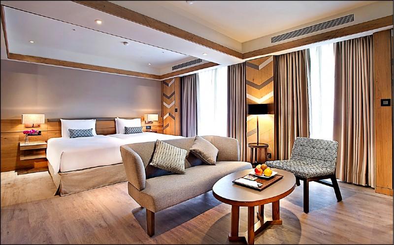 今年前三季全台觀光旅館總營收,較去年增逾10億元,其中客房收入就增加14億元。圖為知本老爺酒店。(資料照,知本老爺提供)