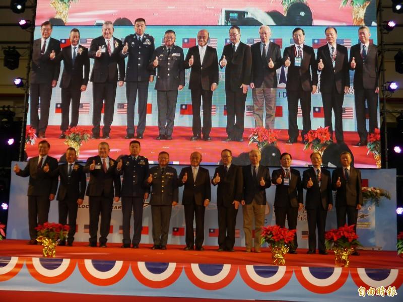 漢翔與洛馬公司簽署策略聯盟協議。(記者張軒哲攝)