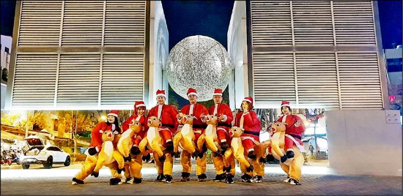 海安路將於廿一、廿二日兩天封街,舉辦第二屆海安商圈耶誕派對活動。 (海安觀光商圈發展協會提供)