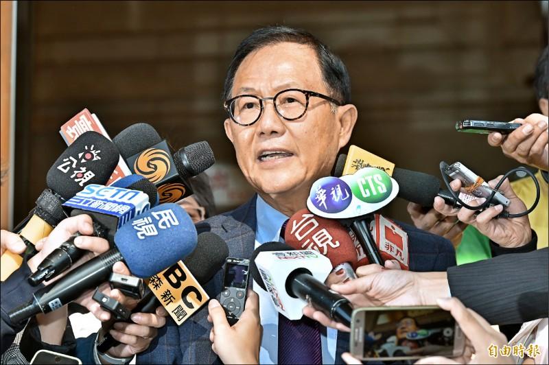 台北市長選舉無效之訴昨二審宣判,丁守中到庭聆聽,宣判結果敗訴。(記者塗建榮攝)