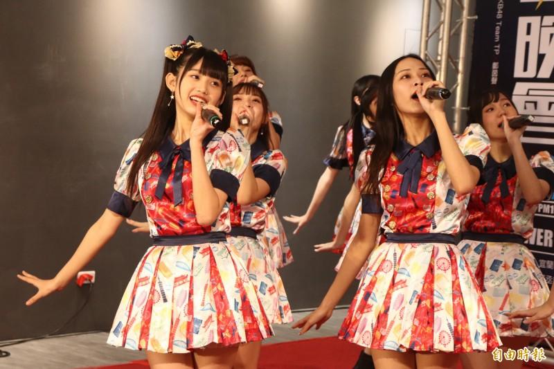 女子偶像團體AKB48TeamTP將在宜蘭熊讚跨年晚會登台。(記者林敬倫攝)