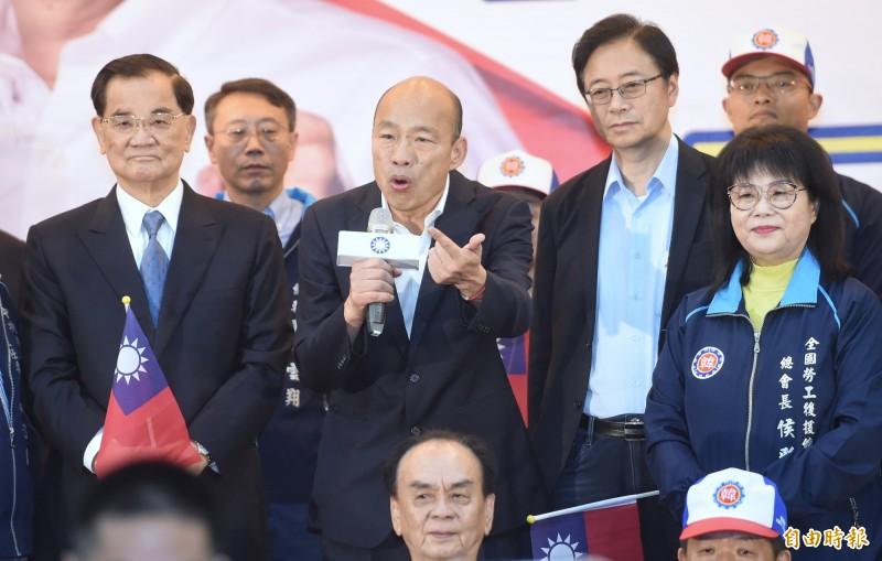 國民黨總統候選人韓國瑜今又被週刊爆料,指稱他曾匯款600萬給新莊王小姐;韓國瑜競選辦公室今指出,初步了解應屬朋友間正常財務往來。(資料照)