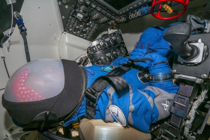 波音新型太空飛行器「CST-100 Starliner」的首位測試員蘿西。(美聯社)