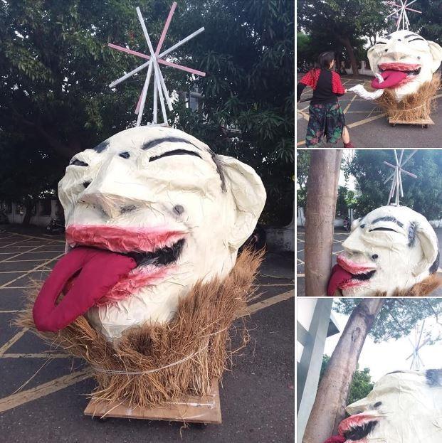 有罷韓網友製作一個「韓國瑜花車」,表示希望活動當天能秀給大家看,由於外觀做的唯妙唯肖,讓不少網友驚呼「太像了吧!神還原!」 、「有夠像...」。 (圖擷取自罷韓社團「公民割草行動」)