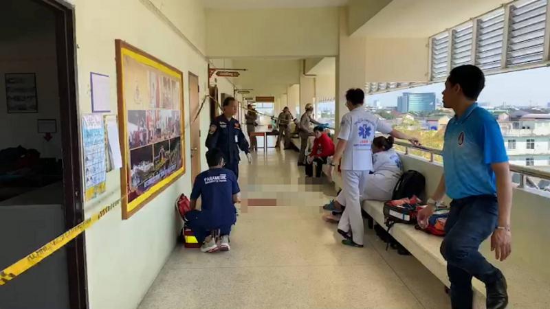 泰國13歲少年對另一名同學開槍,理由疑似是受不了長期被對方欺凌。(SIAMNONTHABURIFOUNDATION@FB)