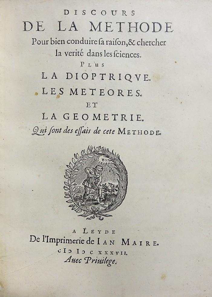 1637年笛卡兒的《方法論》。(圖取自國家圖書館網頁)