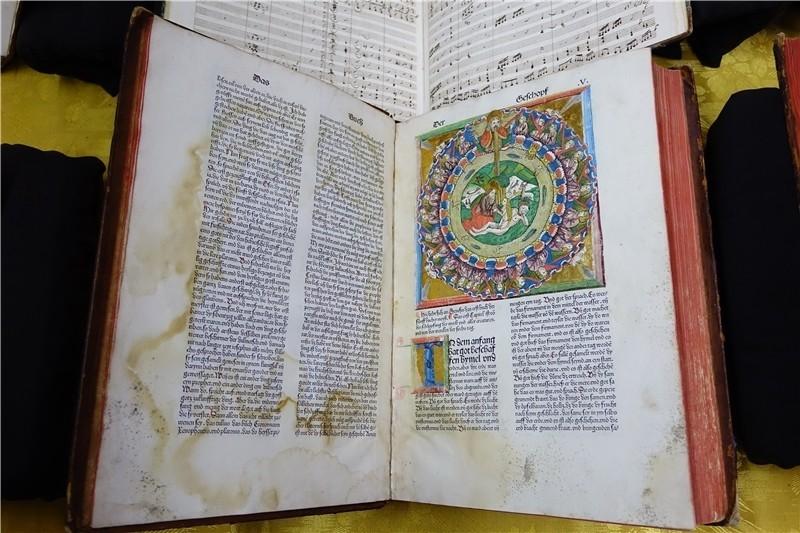 1486年的《科貝格聖經》。(圖取自國家圖書館網頁)