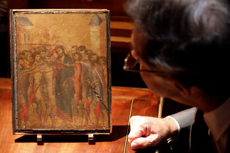 法國政府將這幅《受嘲弄的基督》列為「國寶」,禁止其出口為期30個月,以便有時間籌措資金購買這幅古畫。(路透)