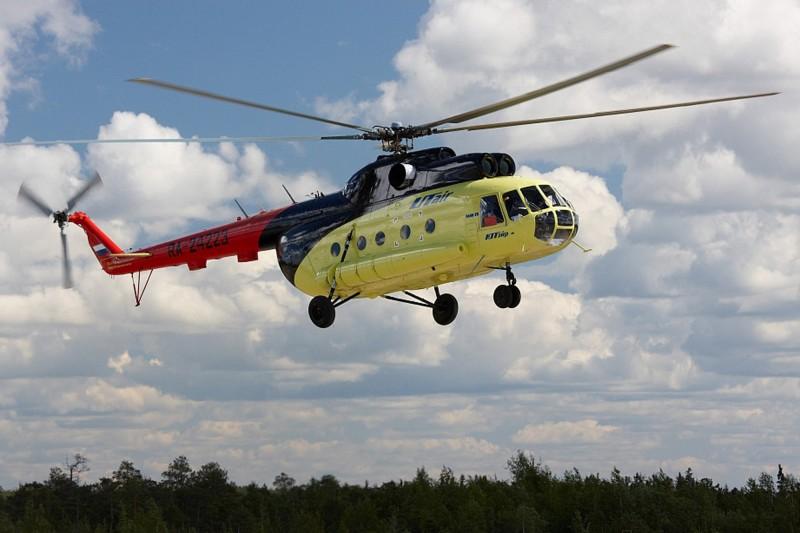 俄羅斯一架Mi-8直升機當地時間今(25)日一早在起飛後被暴風雪困住,在西伯利亞地區緊急迫降,造成15人受傷。Mi-8直升機示意圖。(歐新社)