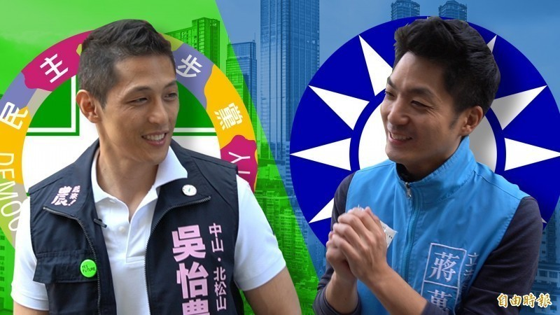 陳芳明表示,民進黨台北市立委候選人吳怡農(左)聲勢超越對手蔣萬安(右)。(資料照)