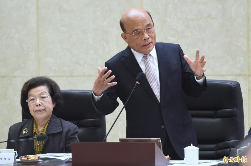 25項元旦新制將上路,行政院長蘇貞昌要求廣為宣導。(資料照)