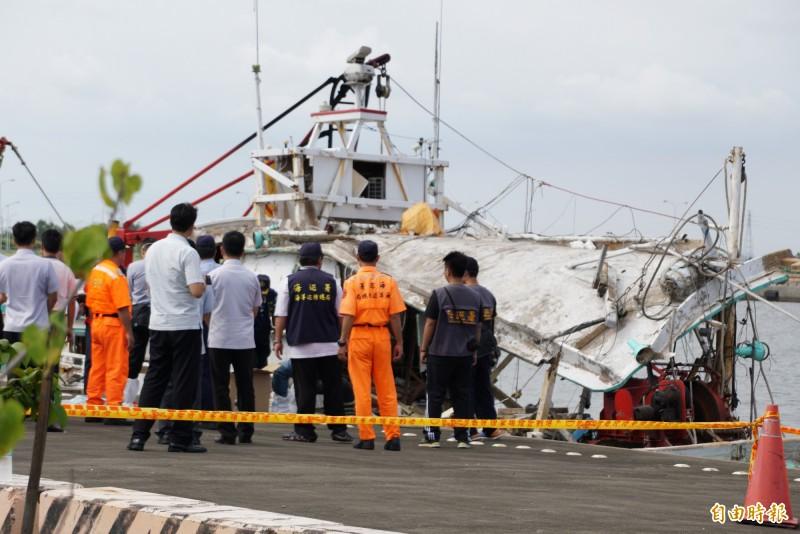 海軍金江艦3年前誤射雄三飛彈,造成漁船「翔利昇號(圖)」船長黃文忠死亡及3名船員受傷。(資料照)