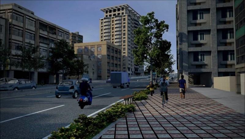 配合中正橋拆除改建,重慶高架橋於明年春節動工拆除,完工後將有人行道,空間變開闊;圖為拆除後的模擬圖。(新工處提供)