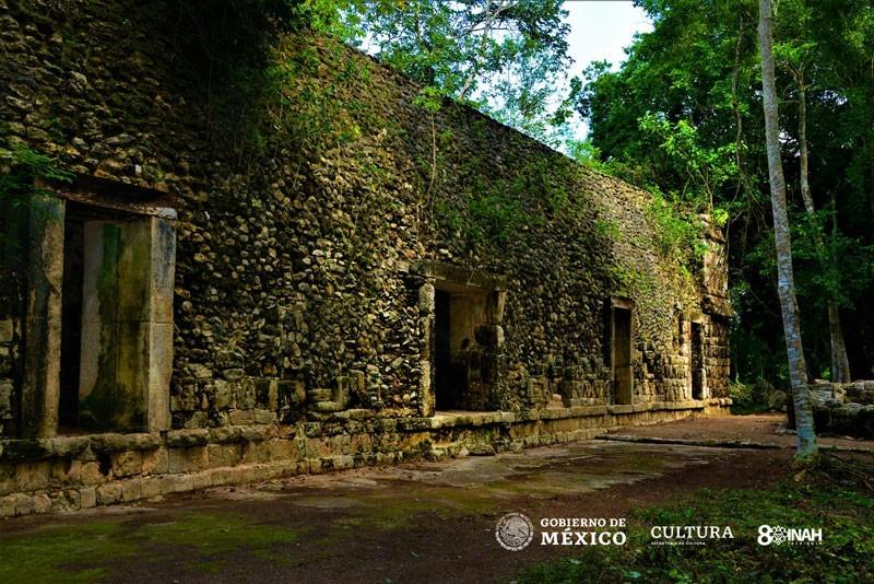 考古學家在墨西哥東部坎昆附近的古城庫魯巴,發現一座馬雅文明大型宮殿遺址。(圖擷自INAH網站)