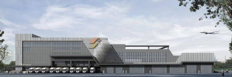 星宇航空保稅大樓開工,預計在2022年完工。(星宇航空提供)