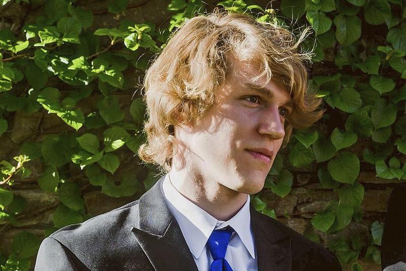 美國陸軍ROTC學員萊利‧豪威爾(Riley Howell)在槍擊案時捨命救同學。(美聯社)