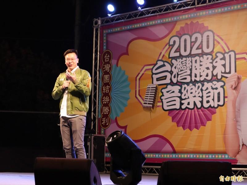 民進黨副秘書長林飛帆痛批國民黨只會造謠、抹黑。(記者歐素美攝)
