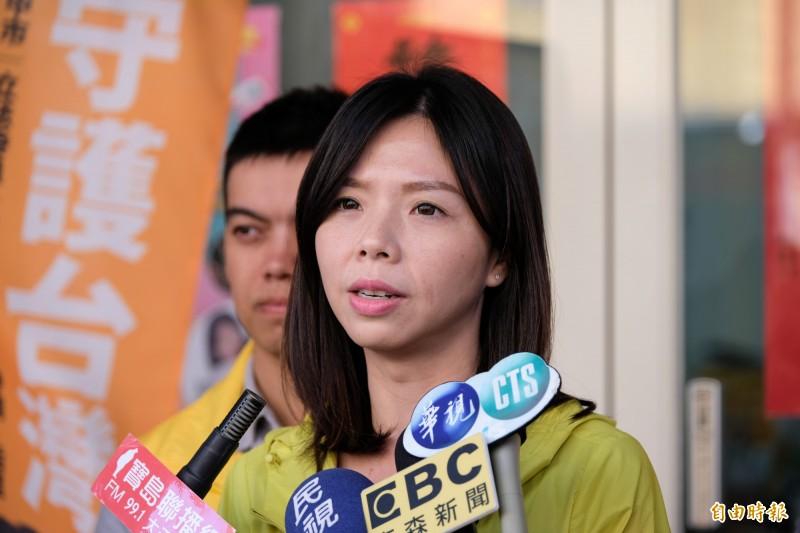 洪慈庸表示,郭台銘道歉了,但她不解楊瓊瓔為何仍發新聞指責她是「見縫插針」,難道楊「心中只剩下選舉了嗎?」(資料照)
