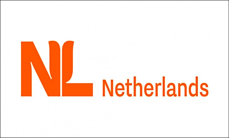 荷蘭將更換新的旅遊宣傳標誌,由正式國名和狀似鬱金香的縮寫字母NL組成。(取自網路)