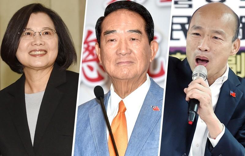 2020總統大選唯一一場辯論會將於下午2時在公視登場,預料3位總統候選人蔡英文、宋楚瑜、韓國瑜將是正面交鋒、直球對決。(本報合成)