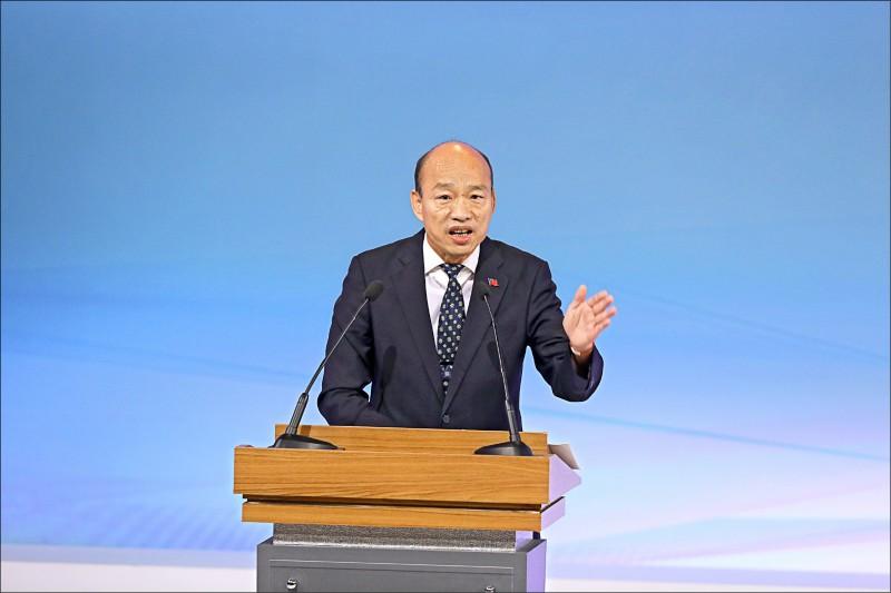 總統候選人電視辯論會,國民黨候選人韓國瑜。(台北市攝影記者聯誼會提供)