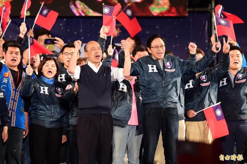 韓國瑜昨脫口而出「恁北真的生氣了X!」,PTT鄉民諷刺:「符合客群需求啊。」(資料照)