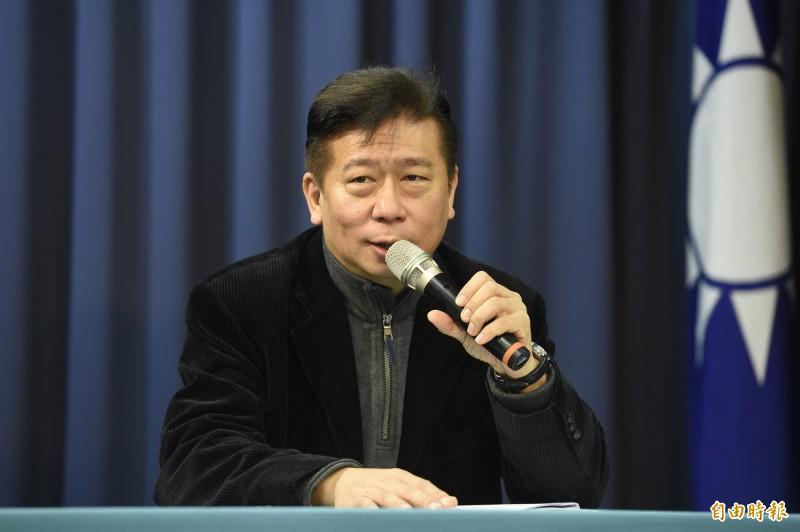 國民黨副秘書長兼發言人張顯耀。(記者叢昌瑾攝)