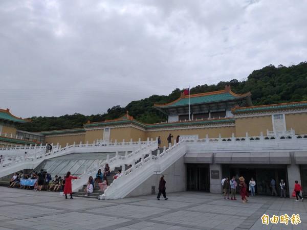 故宮北部院區在整修期間仍對外開放。(資料照,記者陳昱勳攝)