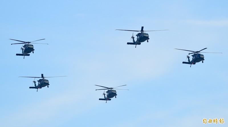 台灣向美方採購60架「UH-60M」黑鷹直升機。(資料照)