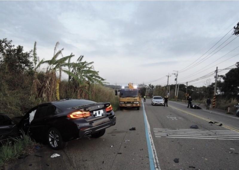 林士昌夫人的愛車送修,卻被技師撞毀。(記者張軒哲翻攝)
