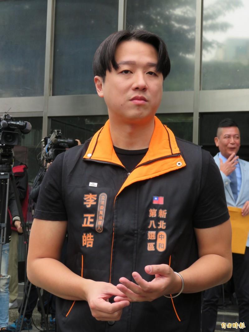 親民黨立委候選人李正皓(見圖)表示,韓國瑜當天上午事發後完全狀況外,直到午間新聞傳遍後才在下午1點發臉書為傷者祈福,「韓國瑜還是一貫的離譜」。(資料照)