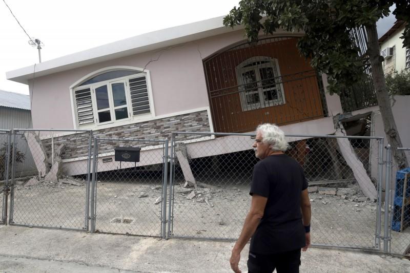 波多黎各建物坍塌。(歐新社)
