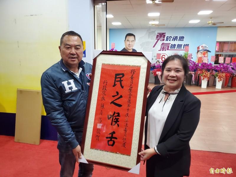 穩定領先,苗栗縣第二選區徐志榮宣布自行當選(記者蔡政珉攝)