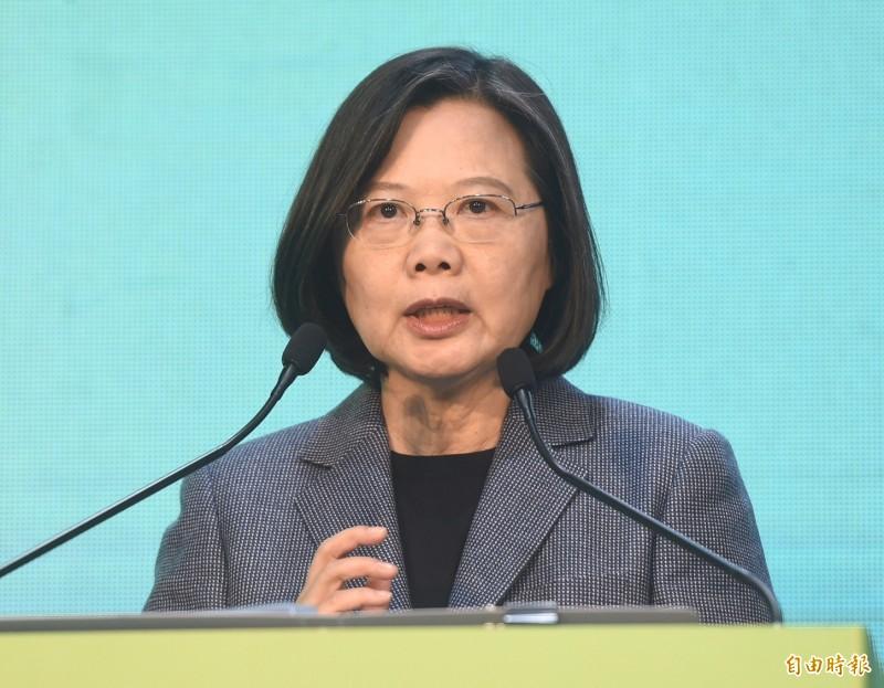 總統蔡英文表示,中國對台灣持續施壓,確實讓台灣在國際上面臨困境,但過去3年有許多理念相同重要夥伴成立合作關係,未來都會持續強化與擴大。(記者簡榮豐攝)