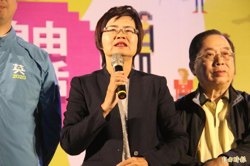 彰化縣第四選區立委陳素月拿下10萬3740票,打破彰化歷屆最高票紀錄。(記者陳冠備攝)