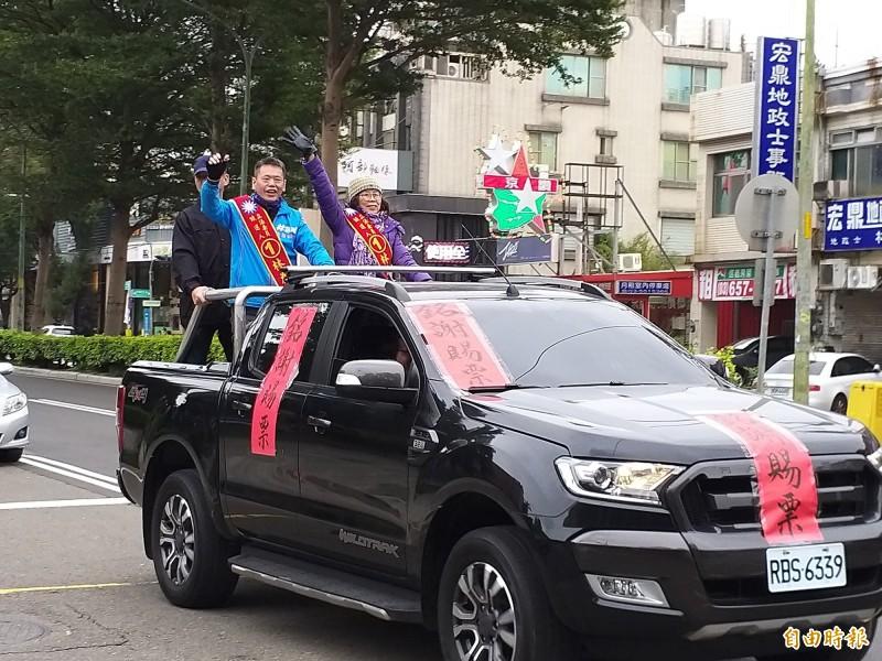 順利連任的國民黨新竹縣立委林為洲,今天表示願當黨內烏鴉,對弊病提建言。(記者廖雪茹攝)