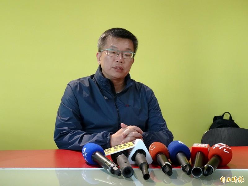 對於下屆立法院正副院長選舉,立法院副院長蔡其昌表示,他要先聽聽大家的意見。(記者張菁雅攝)