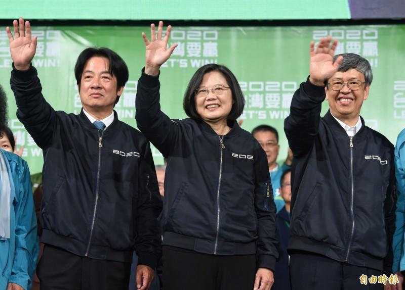 總統蔡英文以歷史性的817萬高票連任成功,日本媒體直指蔡英文已進化成蔡英文2.0,同時也分析她如何帶領民進黨走出2018年地方選舉的大敗。(資料照)