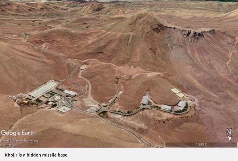 美伊關係持續緊張,伊朗官媒日前釋出「地下飛彈城」的內部畫面,指出他們擁有上千枚飛彈,更警告「海嘯將席捲美國所有基地」,而「伊朗反抗力量全國議會」(NCRI)則在近日點出該「地下飛彈城」的詳細位置,希望能避免戰事發生。(圖擷取自英國星報)