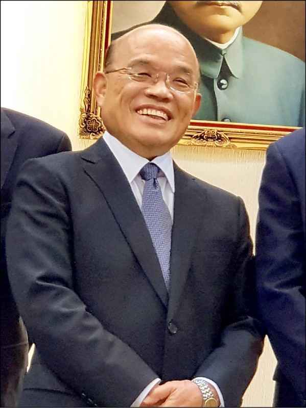 行政院長蘇貞昌施政獲肯定,選後可望留任。(資料照)