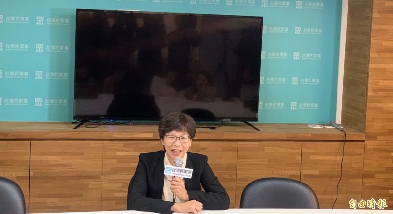 民眾黨立委當選人蔡壁如表示,將由名列不分區第一名的賴香伶接任黨團總召、第二名的張其祿當副總召。(記者沈佩瑤攝)