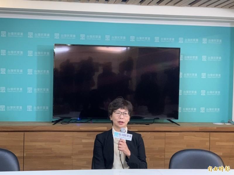 蔡壁如表示,考慮推派人選角逐下屆新竹市長。(記者沈佩瑤攝)