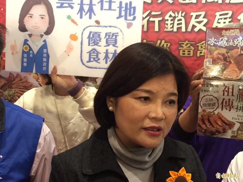 立委選舉張家挫敗,雲林縣長張麗善表示現在已沒有派系。(記者詹士弘攝)