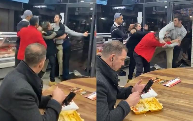 餐廳鬥毆衝突中... 男子全程「冷靜吃薯條」爆紅