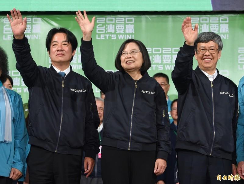 總統蔡英文11日勝選,打敗對手韓國瑜成為我國第15任總統。(資料照)