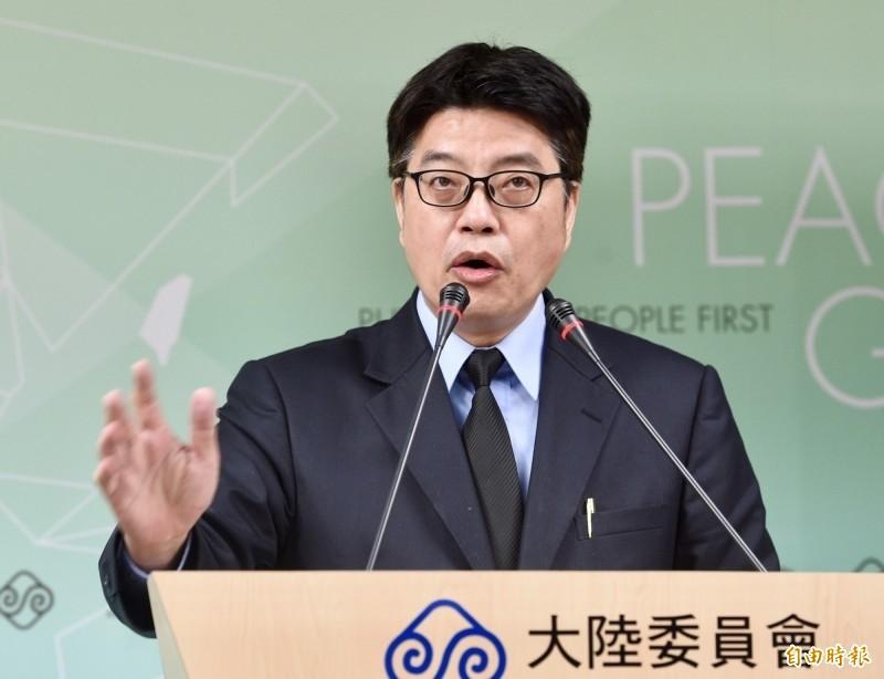 陸委會表示,選舉結果是台灣人民拒絕「一國兩制」最明確的答案,批中共「不要再自欺欺人」,必須面對國際現實。圖為陸委會副主委兼發言人邱垂正。(資料照)
